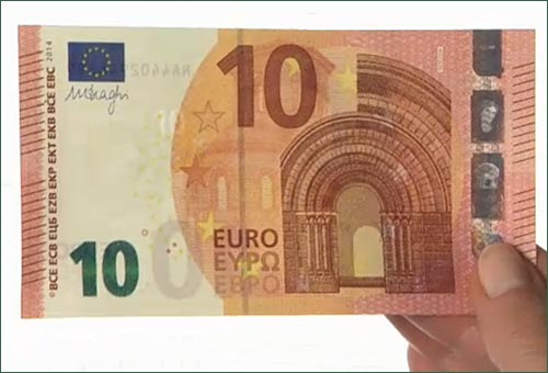 Nuova banconota da 10 euro