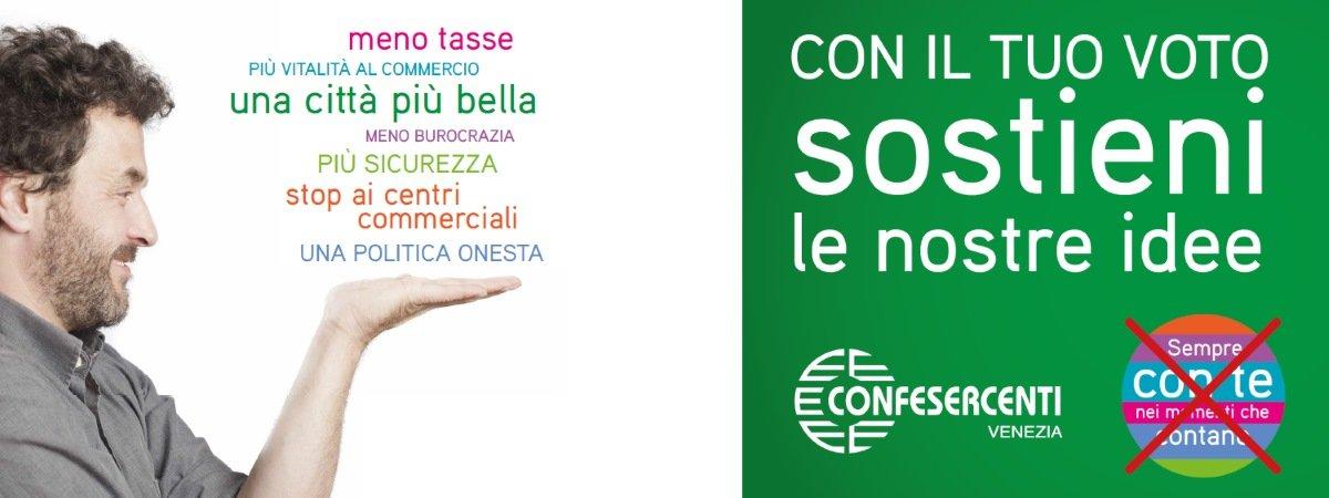 Elezioni a Venezia: il programma di Confesercenti