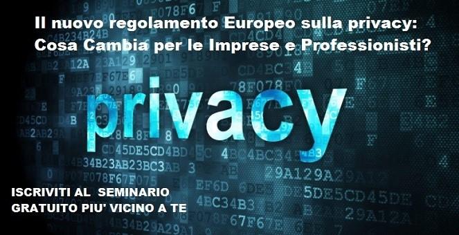 """Cambia la """"privacy"""" per imprese e professionisti: incontri gratuiti di formazione"""