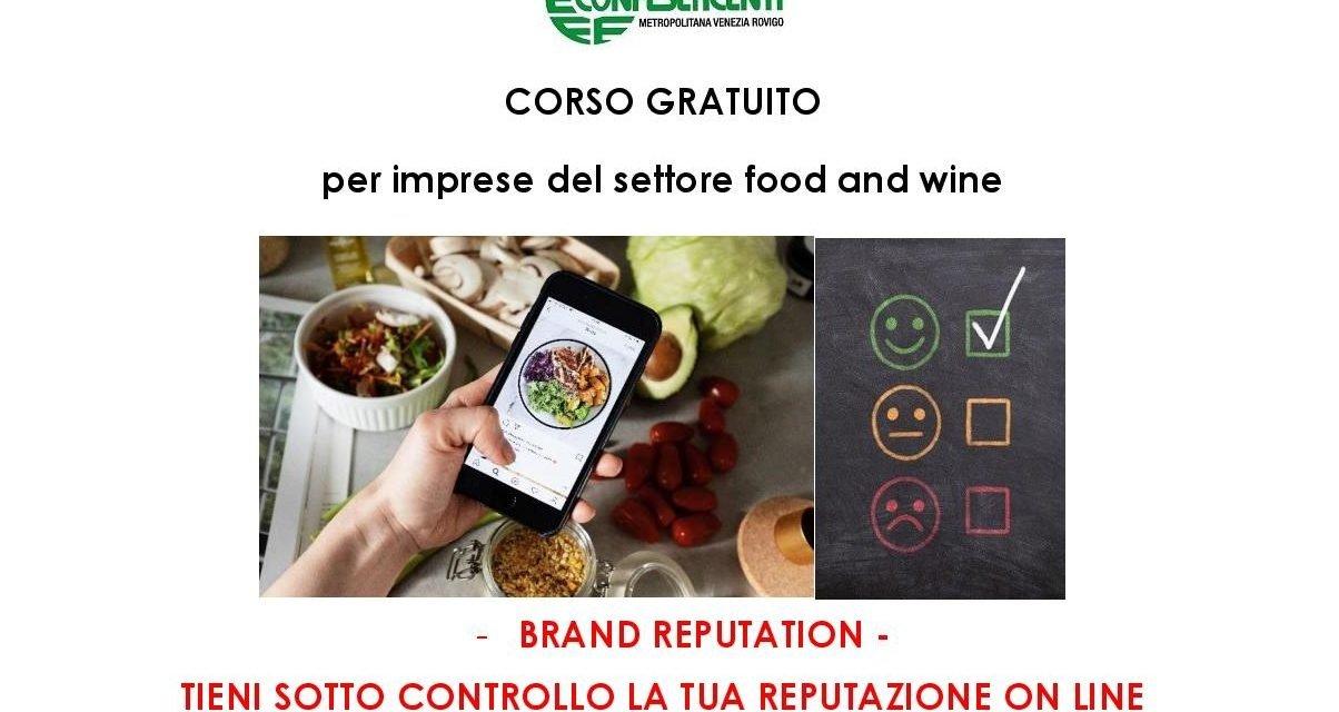 La tua reputazione on-line? Corso per imprese del food & wine